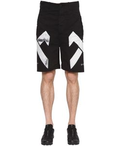 11 By Boris Bidjan Saberi | 11 Maxi Logo Printed Cotton Shorts
