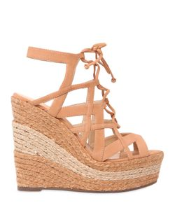 Schutz | 130mm Suede Two Tone Rope Lace-Up Sandal