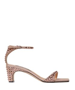 Sergio Rossi | 60mm Studded Metallic Leather Sandals