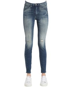 Calvin Klein Jeans | Destructed Sculpted Skinny Cotton Jeans