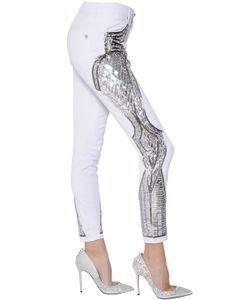 Zuhair Murad   Mirror Bead Embellished Denim Jeans
