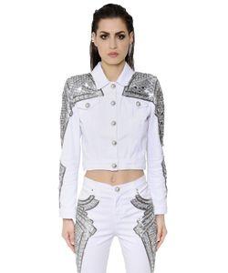 Zuhair Murad   Mirror Bead Embellished Denim Jacket