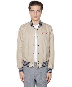 Maison Kitsuné | Cotton Gabardine Bomber Jacket