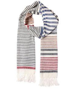 Salvatore Ferragamo | Linen Silk Striped Scarf