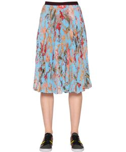 I'M Isola Marras | Pleated Floral Techno Chiffon Skirt