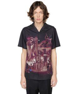 Lanvin   The Refinery Print Cotton Bowling Shirt