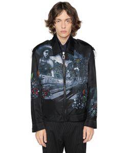 Lanvin   Lonely Town Print Nylon Jacket
