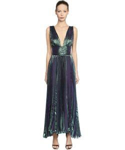 Maria Lucia Hohan | Gathered Silk Chiffon Lurex Dress