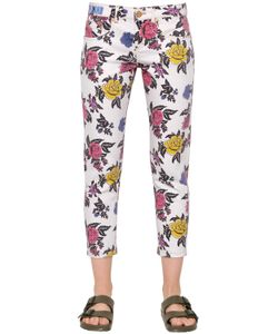 House Of Holland | Rose Printed Straight Cotton Denim Jeans