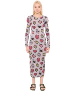House Of Holland | Heart Printed Cotton Jersey Dress