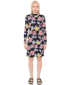 House Of Holland | Rose Printed Viscose Jersey Dress