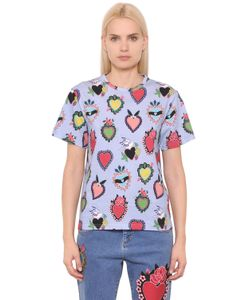 House Of Holland | Heart Printed Cotton Jersey T-Shirt