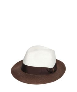 Borsalino | Bicolor Hemp Medium Brim Hat