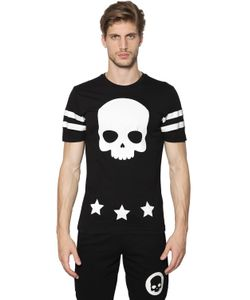Hydrogen   Skull 17 Printed Cotton Jersey T-Shirt