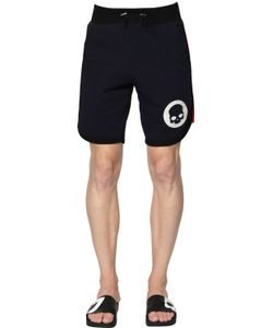 Hydrogen   Skull Printed Cotton Shorts