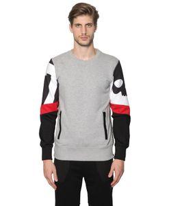 Hydrogen   Cotton Sweatshirt W/ Printed Sleeves