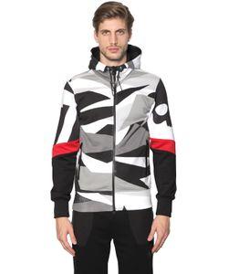 Hydrogen   Printed Sleeves Hooded Cotton Sweatshirt