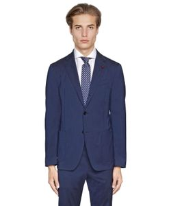 Lardini | Easy Wear Stretch Wool Toile Suit