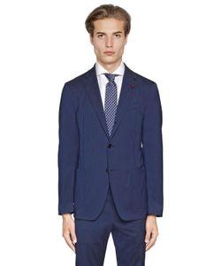 Lardini | Easy Wear Stretch Wool Toile Suit