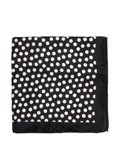 Gabriele Pasini | Polka Dot Print Silk Twill Pocket Square