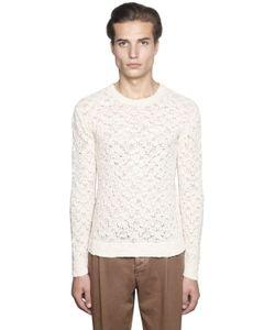 Gabriele Pasini   Cotton Blend Lace Knit Sweater