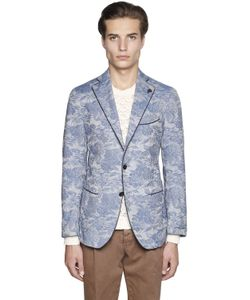 Gabriele Pasini | Floral Stretch Cotton Jacquard Jacket