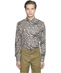 Gabriele Pasini   Mayan Printed Cotton Jacquard Shirt