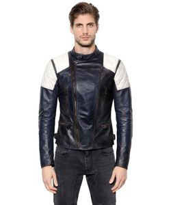 Belstaff | Greensted Two Tone Leather Moto Jacket