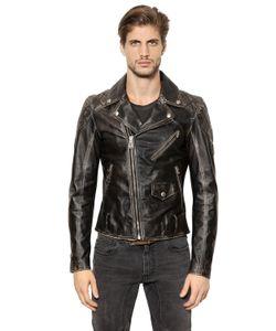 Belstaff | Arlingham Washed Leather Biker Jacket