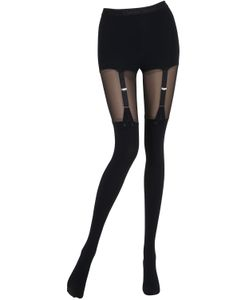 Chantal Thomass | Tulle Microfiber Garter Effect Tights