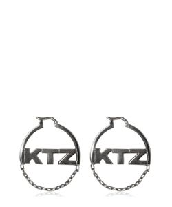 KTZ | Logo Chain Hoop Earrings