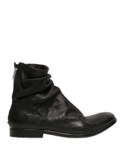 The Last Conspiracy | Wrinkled Matte Leather Boots