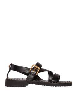 Giuseppe Zanotti Design | Studded Welt Brushed Leather Sandals