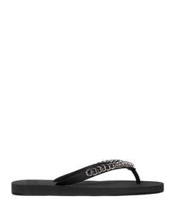 Giuseppe Zanotti Design | Chain Detail Rubber Flip Flops