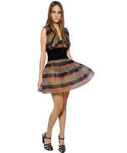 Sonia Rykiel | Stripe Printed Silk Georgette Dress