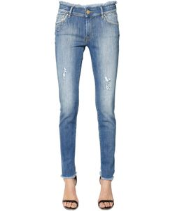 Don't Cry | Skinny Heart Pocket Cotton Denim Jeans