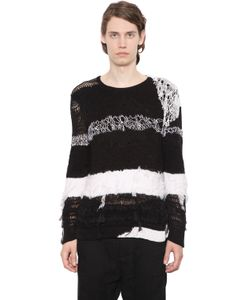 Ann Demeulemeester | Intarsia Stripes Silk Cotton Sweater