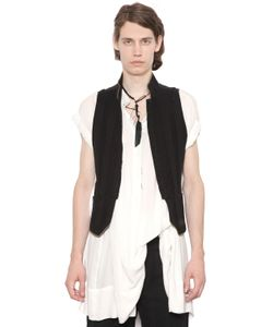 Ann Demeulemeester | Striped Cotton Gabardine Military Vest