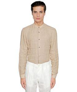 Z Zegna | Guru Collar Linen Shirt