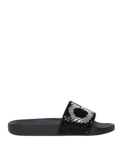Salvatore Ferragamo | Groove Jeweled Rubber Slide Sandals