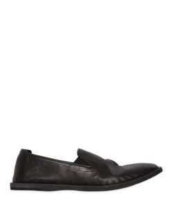 Officine Creative | Washed Leather Slip-On Loafers