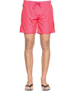 Diesel | Mid Neon Nylon Swim Shorts