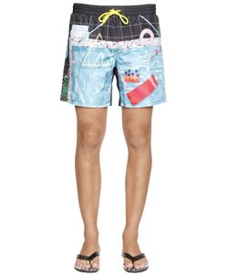 Diesel | Pool Printed Nylon Swim Shorts