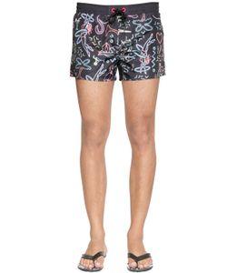 Diesel | Neon Printed Nylon Swim Shorts