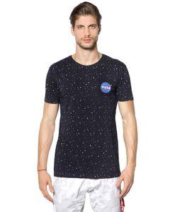 Alpha Industries | Nasa Stars Printed Cotton Jersey T-Shirt
