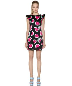 Love Moschino | Watermelon Printed Cotton Satin Dress