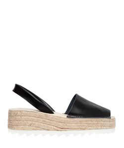 Jeffrey Campbell | 50mm Ibiza Leather Slingback Espadrilles