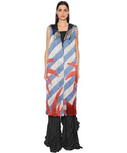 Marco de Vincenzo | Fringed Crepe Long Vest