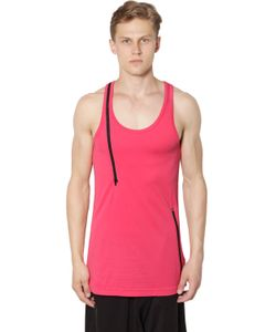 Y-3 | Long Cotton Jersey Tank Top With Zip
