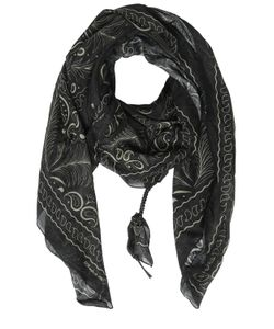 Htc Hollywood Trading Company | Palms Paisley Silk Cotton Satin Scarf